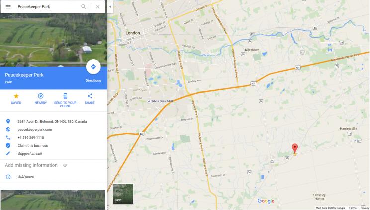 Peacekeeper Park, Avon, Ontario